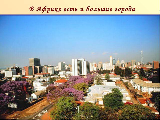 В Африке есть и большие города п