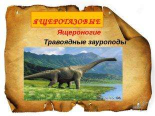 Ящероногие Травоядные зауроподы ЯЩЕРОТАЗОВЫЕ