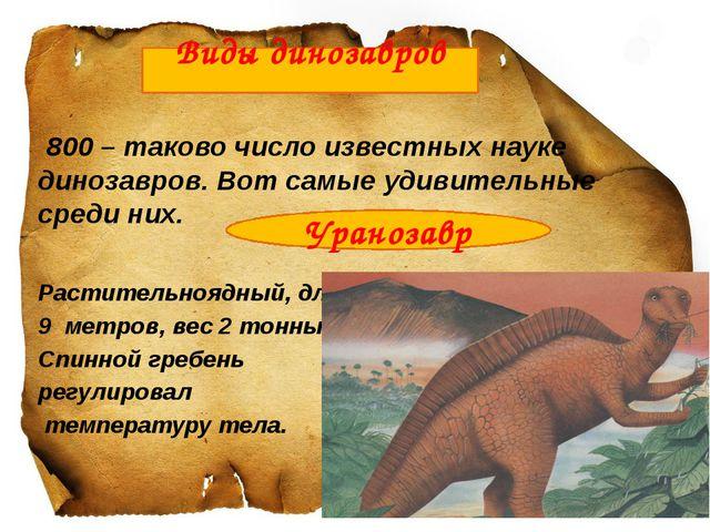 800 – таково число известных науке динозавров. Вот самые удивительные среди...