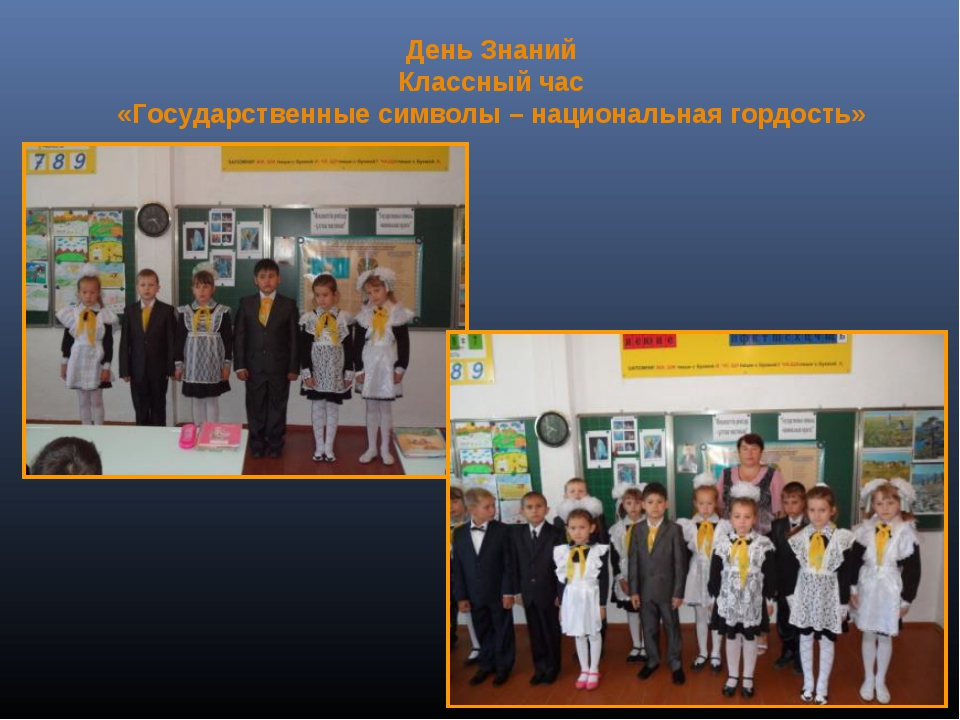 Классный час Символы Республики Казахстан  национальная