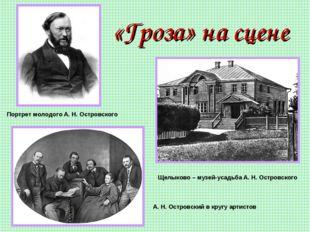 «Гроза» на сцене Портрет молодого А. Н. Островского Щелыково – музей-усадьба