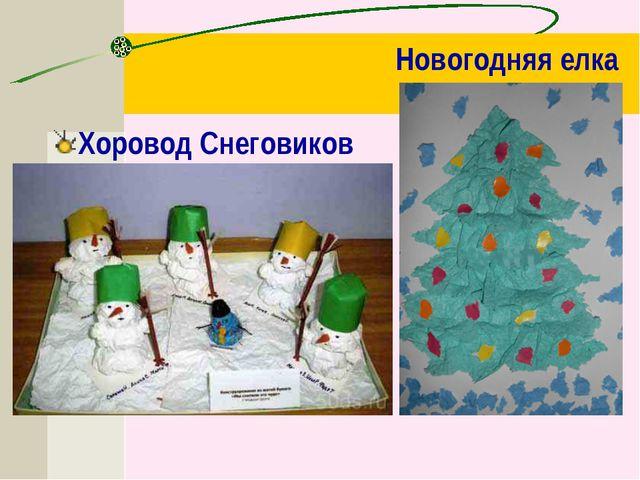 Новогодняя елка Хоровод Снеговиков