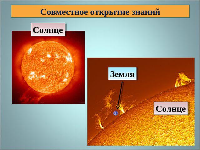 Совместное открытие знаний Солнце Солнце Земля