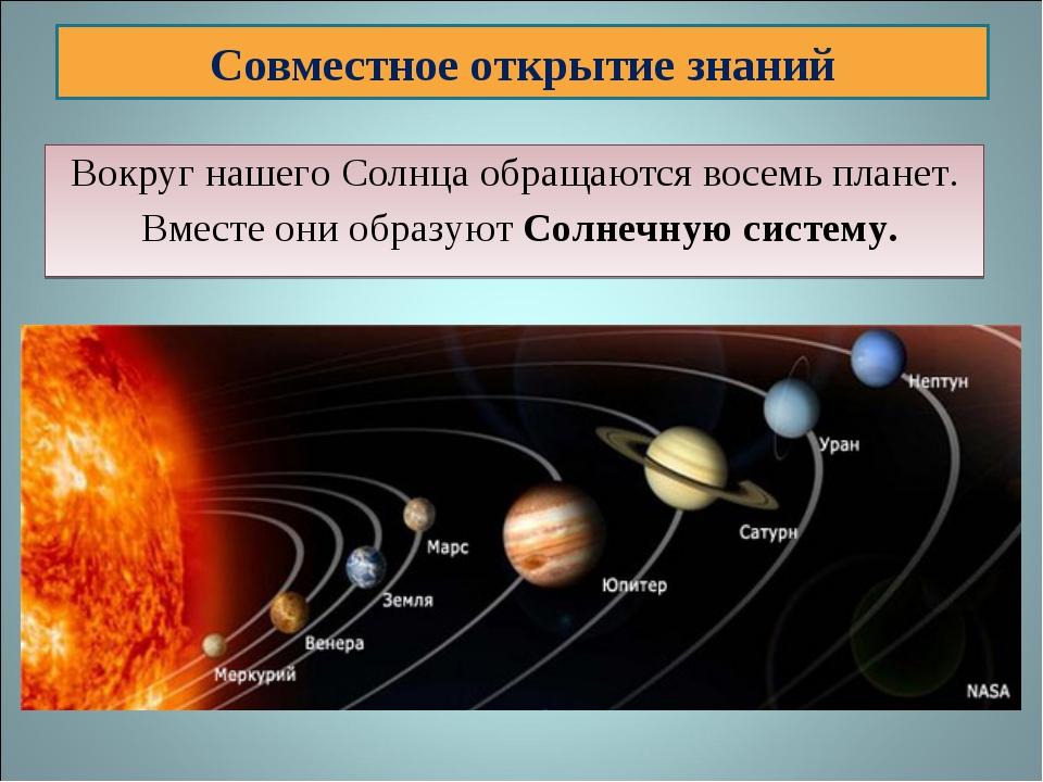 Вокруг нашего Солнца обращаются восемь планет. Вместе они образуют Солнечную...