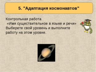 Определяем тему урока Контрольная работа «Имя существительное в языке и речи»