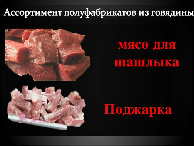 мясо для шашлыка Поджарка