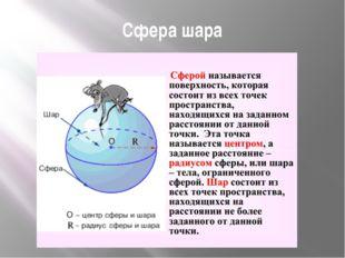 Сфера шара