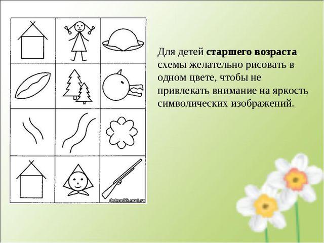 Для детей старшего возраста схемы желательно рисовать в одном цвете, чтобы не...