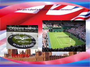 What game is played in the famous Wimbledon tournament? tennis