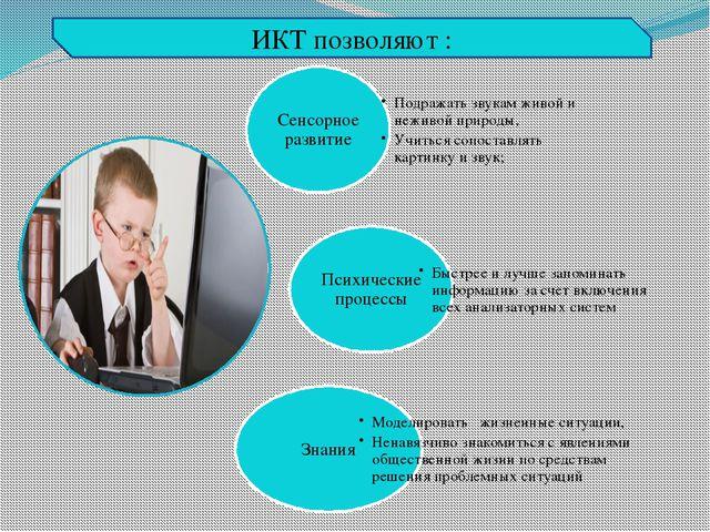 ИКТ позволяют :