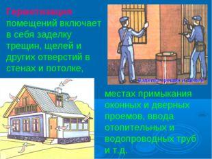 Герметизация помещений включает в себя заделку трещин, щелей и других отверст