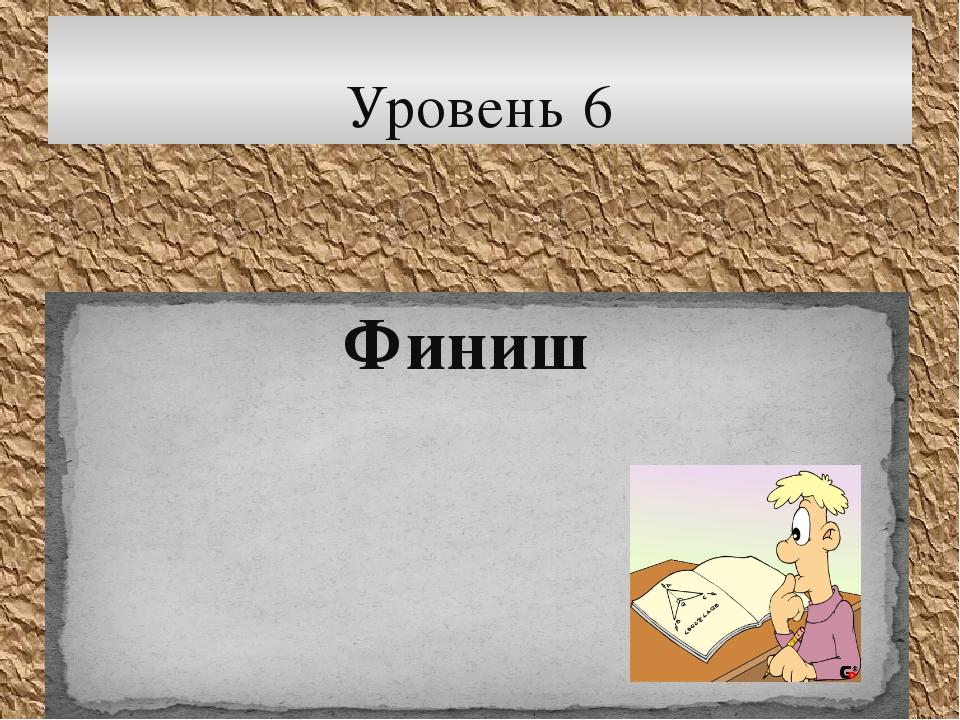 Финиш Уровень 6