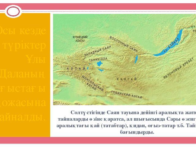 Солтүстігінде Саян тауына дейінгі аралықта жатқан тайпаларды өзіне қаратса, а...