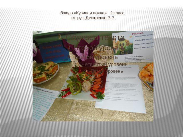 блюдо «Куриная ножка» 2 класс кл. рук. Дмитренко В.В.