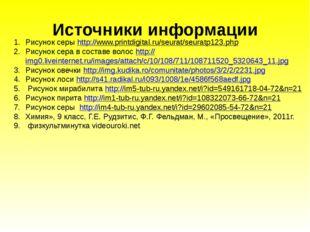 Источники информации Рисунок серы http://www.printdigital.ru/seurat/seuratp12