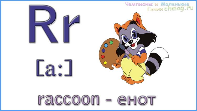 Английский алфавит с транскрипцией буква R