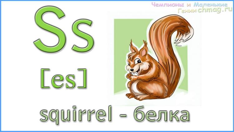 Английский алфавит с транскрипцией буква S