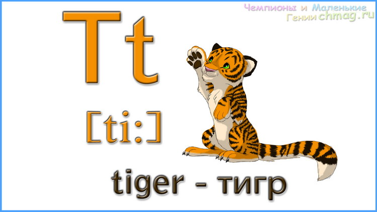 Английский алфавит с транскрипцией буква T