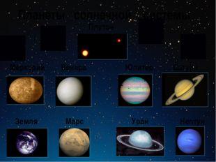 Планеты солнечной системы Меркурий Венера Сатурн Юпитер Земля Марс Плутон Неп