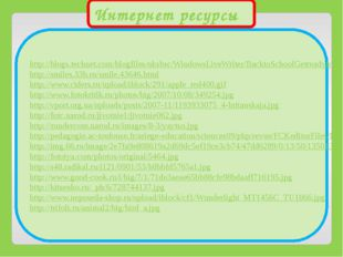Интернет ресурсы http://blogs.technet.com/blogfiles/uksbsc/WindowsLiveWriter/
