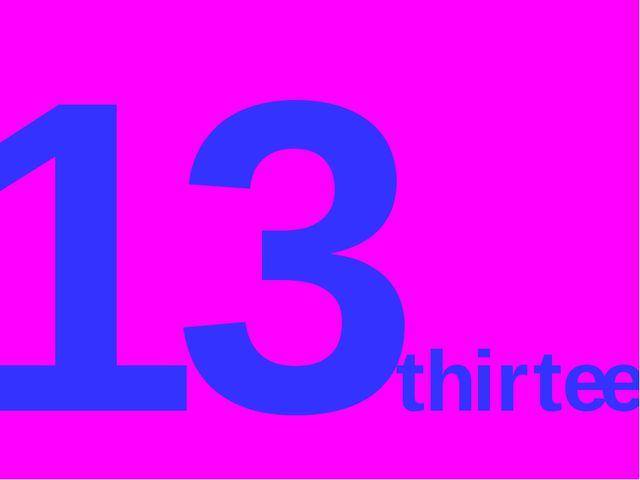 13thirteen