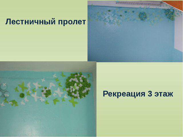 Лестничный пролет Рекреация 3 этаж