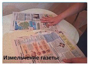 Измельчение газеты