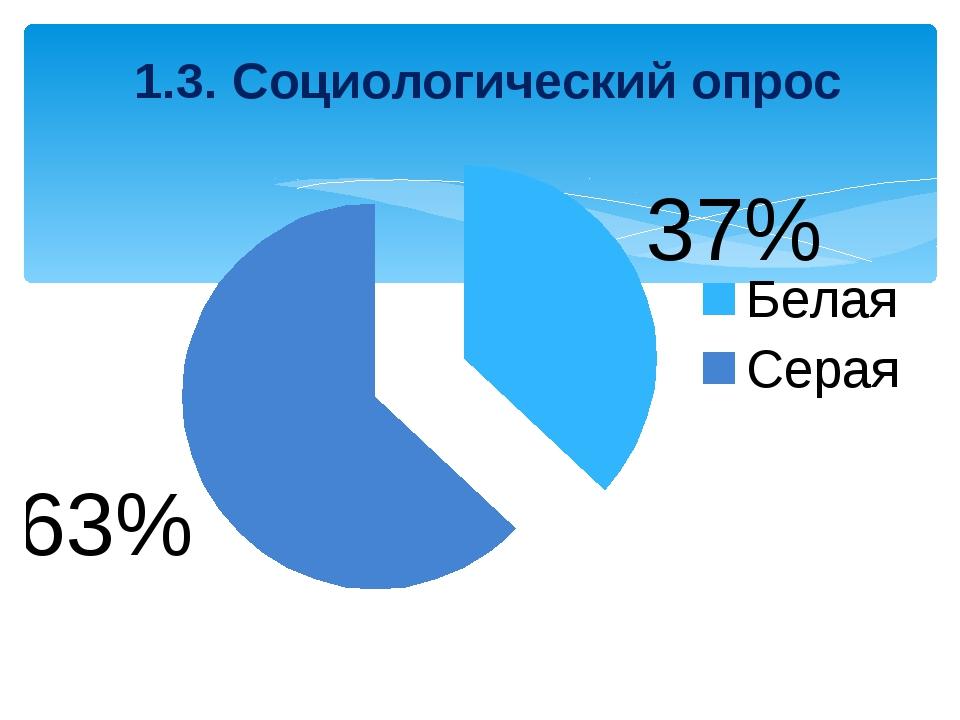1.3. Социологический опрос