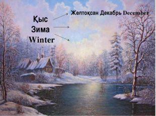 Қыс Зима Winter Желтоқсан Декабрь December
