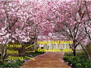 Көктем Весна Spring Наурыз Март March Сәуір Апрель April