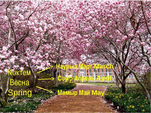 Көктем Весна Spring Наурыз Март March Сәуір Апрель April Мамыр Май May