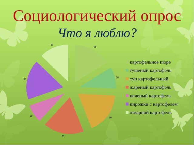 Социологический опрос Что я люблю?