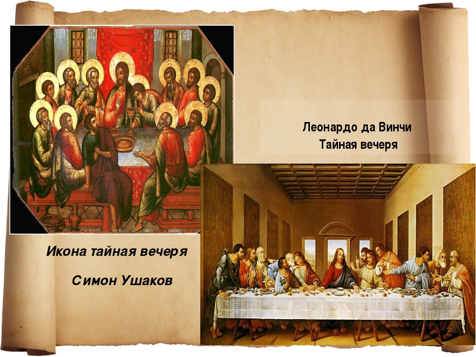 Икона тайная вечеря Симон Ушаков Леонардо да Винчи Тайная вечеря