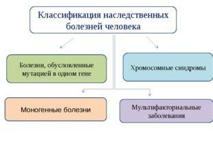 Классификация наследственных болезней человека Болезни, обусловленные мутацие