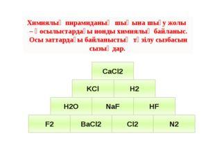 Химиялық пирамиданың шыңына шығу жолы – қосылыстардағы ионды химиялық байланы