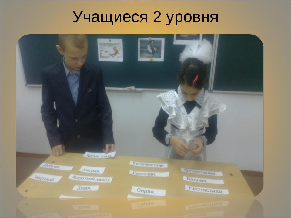 Учащиеся 2 уровня