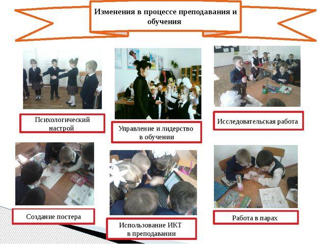 Изменения в процессе преподавания и обучения Управление и лидерство в обучени...