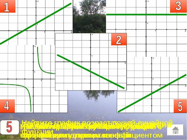 1 Найдите график линейной функции Найдите график возрастающей линейной функци...