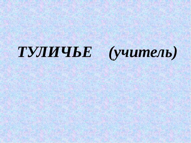 ТУЛИЧЬЕ (учитель)