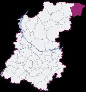 Тоншаевский район на карте