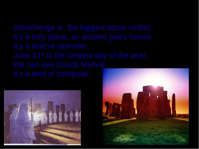 Midsummer's Day in Stonehenge Stonehenge is the biggest stone circles. It's a...