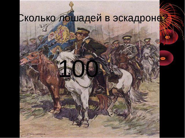 Сколько лошадей в эскадроне? 100