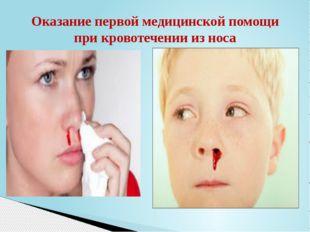 Оказание первой медицинской помощи при кровотечении из носа