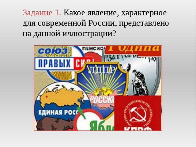 Задание 1. Какое явление, характерное для современной России, представлено на...