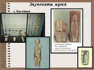 Экспонаты музея с. Костёнки