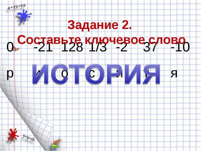 Задание 2. Составьте ключевое слово 0-211281/3-237-10 риоситя