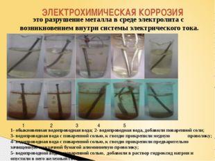 ЭЛЕКТРОХИМИЧЕСКАЯ КОРРОЗИЯ это разрушение металла в среде электролита с возни