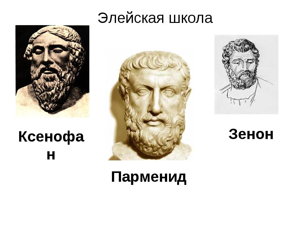 Элейская школа Ксенофан Парменид Зенон