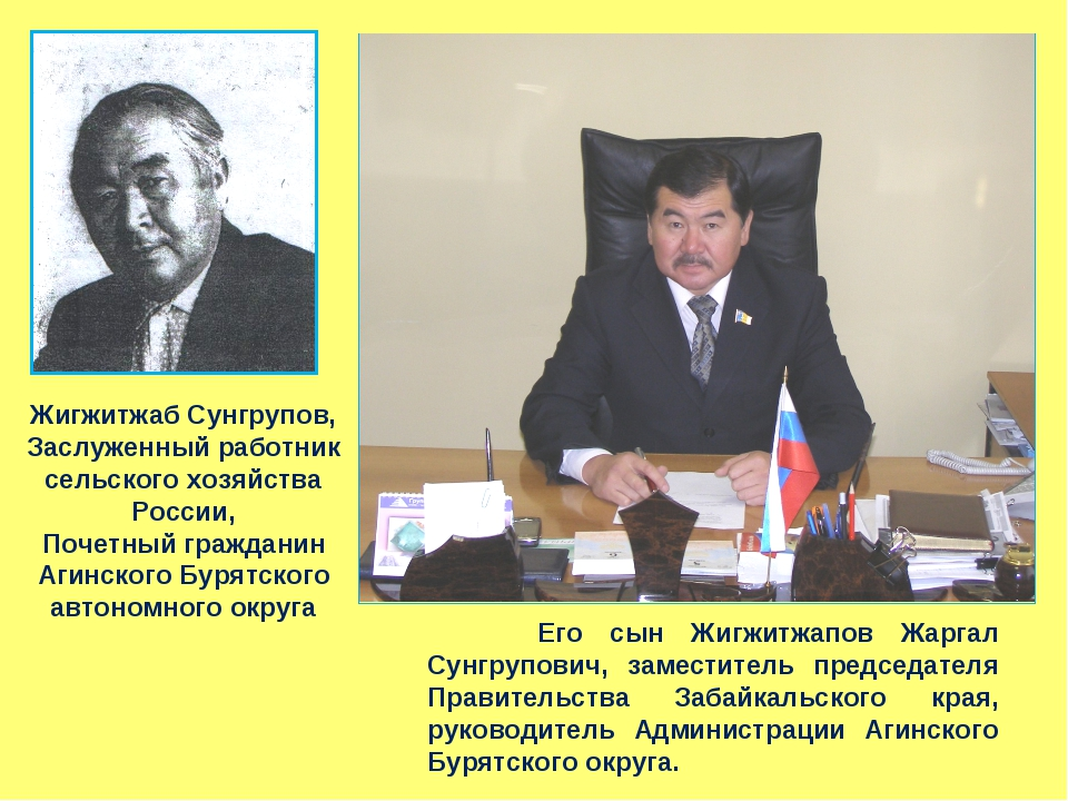 Жигжитжаб Сунгрупов, Заслуженный работник сельского хозяйства России, Почетны...