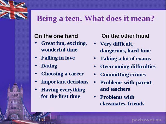 Being a teen. What does it mean? On the one hand Great fun, exciting, wonderf...